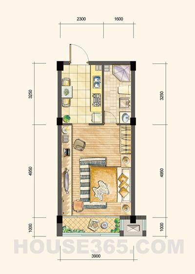 武夷水岸家园小户型公寓户型图