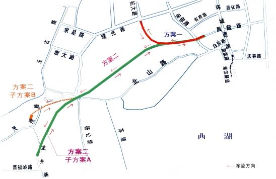 杭州西湖三墩地图