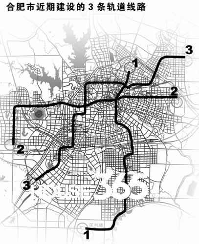 合肥轨道交通线路图