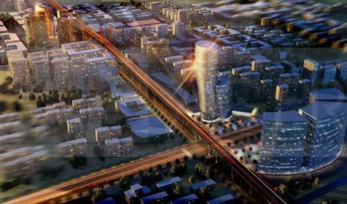 合景领峰 1号线金枫路站上盖综合体高清图片