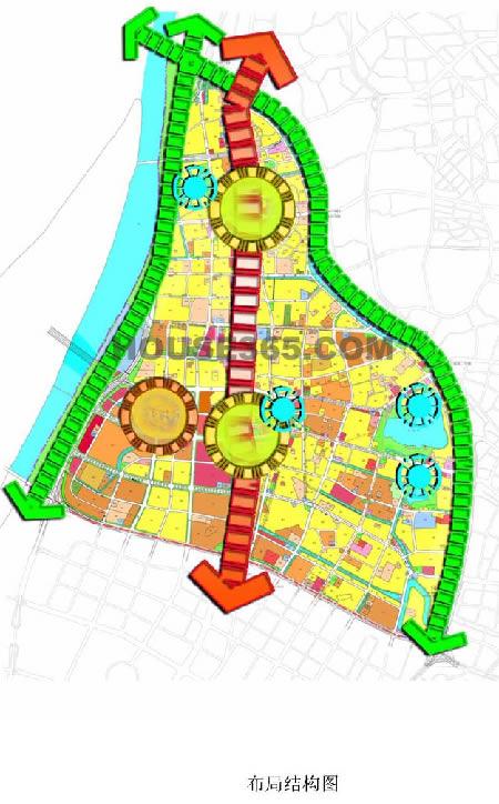 河西北部未来空间结构示意图