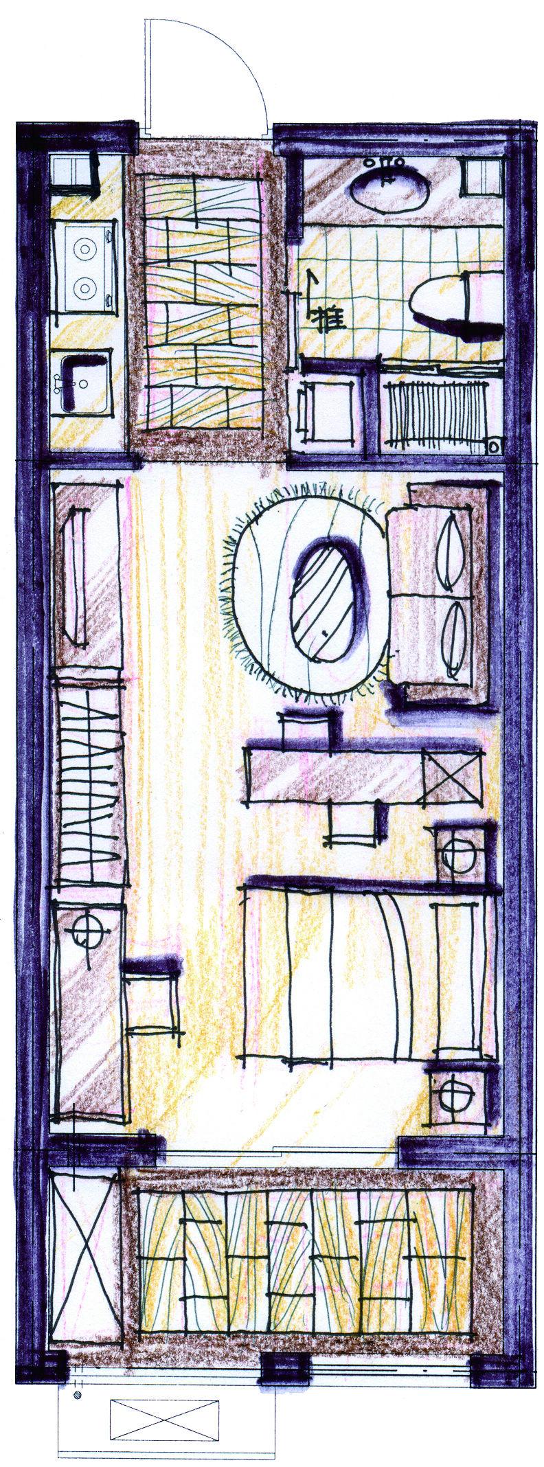 单身公寓设计图40平方展示
