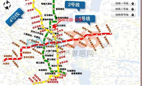 2014苏州地铁规划图;