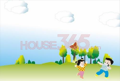 儿童放风筝 柏庄观邸儿童嘉年华活动