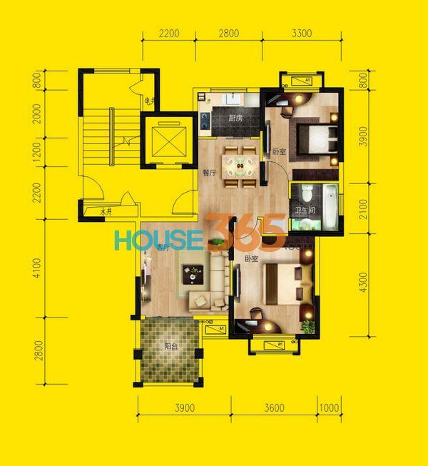 在售35号楼小高层120-140平米顶层复式房源3套,一口价5248元/㎡.