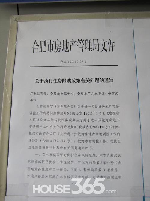 合肥版限购细则3月31日执行 四行政区域外不限