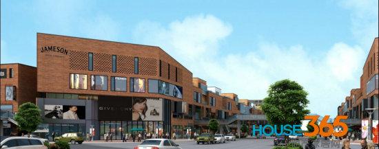 项目三期商业街外立面采用