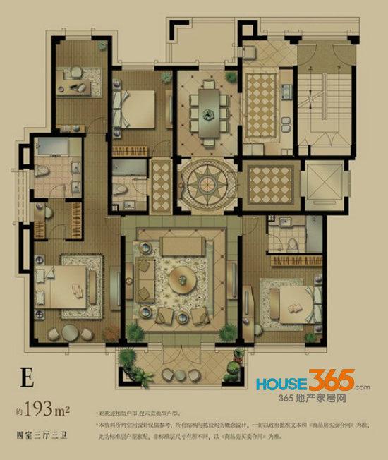 这座意大利贵族府邸,平面成正方形,四面都有门廊,正中心为一个圆形图片