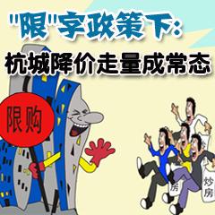 """""""限""""字政策下:杭城降价"""