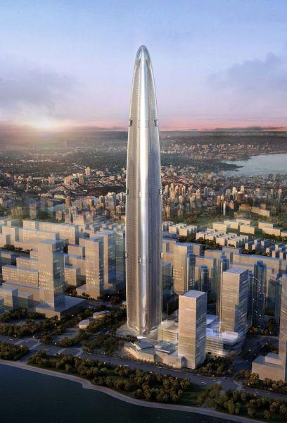 武汉绿地中心大楼_介绍全球第三高楼606米武汉绿地中心大楼的设
