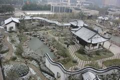 图 苏式园林恰遇漫天飞