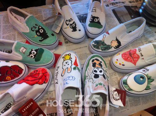 彩绘帆布鞋DIY欢乐多图片