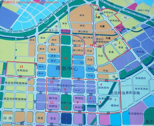 浑南新城规划图图片