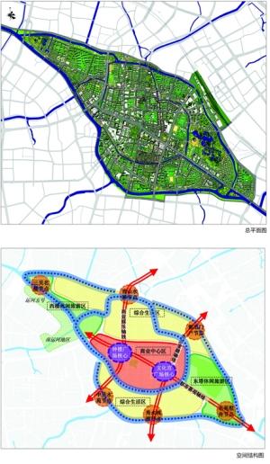 常州市老城厢空间结构图