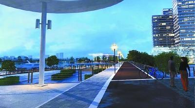 观江绿色慢行道效果图-下关滨江将现3公里绿色慢行道 356米滨江试验高清图片