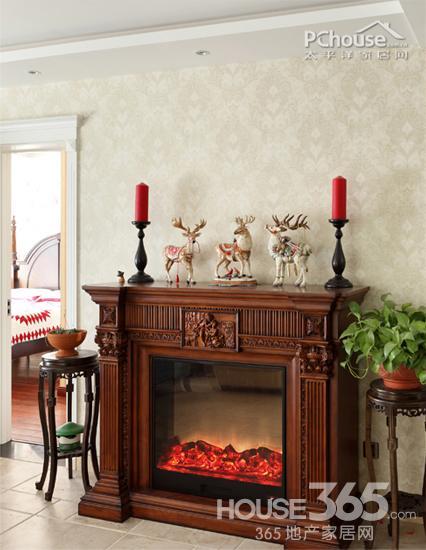 美式壁炉装饰墙面