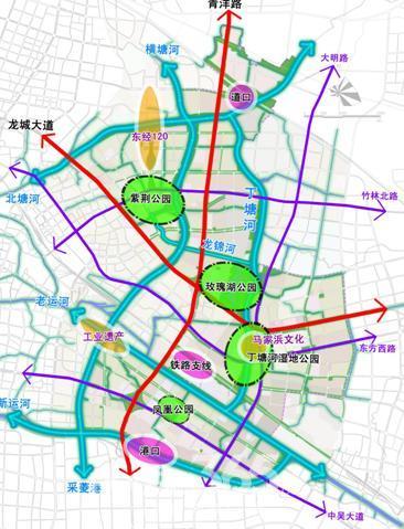 东部生态新城规划 资料图片-城市东移,现代生态新城区崛起