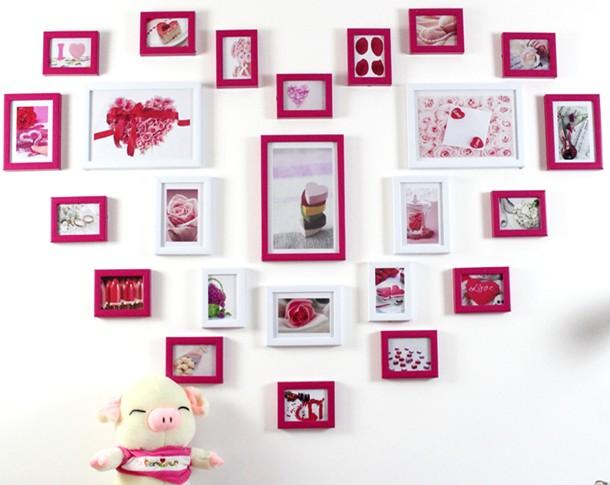 爱心照片墙效果图