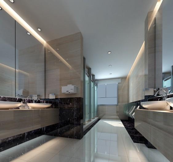 公共洗手间效果图 大气的装修设计 高清图片
