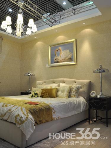 欧式经典样板间卧室实景展示