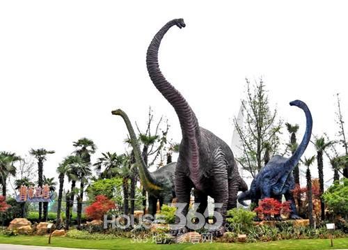 中海地产常州项目靠近的中华恐龙园 资料图片-宏观调控下 中海地产为