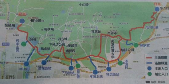 中山陵风景区地图