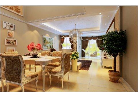 一楼客厅全景沙发旁的摆设家门口还有个小花园硬装