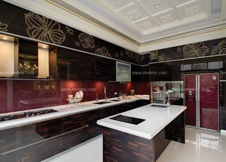 廚房櫥柜裝修效果圖 明艷艷的廚房惹人愛