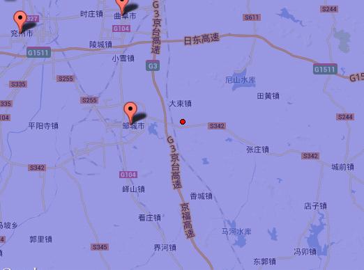 山东省济宁市邹城市 曲阜市交界3.0级地震