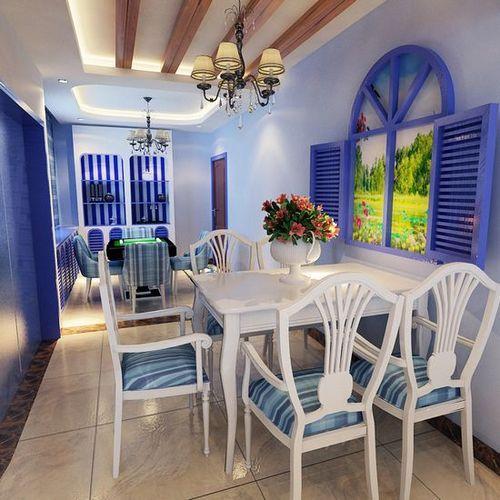 家装餐厅装修效果图 纯美至极的地中海风格餐厅高清图片