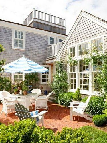 阳台装修设计效果图 自然舒适田园风格生活