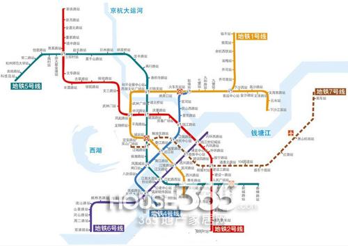 杭州地铁二期最新规划图(资料图片)-杭州地铁6号线正式获批 西湖区