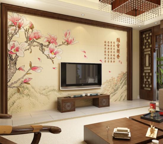 客厅电视背景墙装修效果图2013