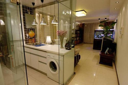 家装玻璃隔断效果图大全 客厅厨房设计连连看