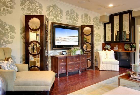 编者按:电视背景墙设计,是眼下很多人关注的热门装修话题。我们都知道,墙纸的花纹和图案,是能够对所装饰的家居空间起到很大的影响的。你家的电视背景墙是什么样的呢?是毫无装饰,是挂了装饰画,是做成收纳柜,还是贴了好看的壁纸?可以说,电视背景墙墙纸是现在很常用的一种装饰背景墙方法。墙纸的挑选,是非常有针对性的专业性行为。作为电视背景墙墙纸,是想给客厅起到一个怎样的效果,和壁纸的颜色、花纹、材质都是息息相关的。来看看最新电视背景墙墙纸图片,学习人家是怎样利用电视背景墙墙纸是客厅更完美的吧。