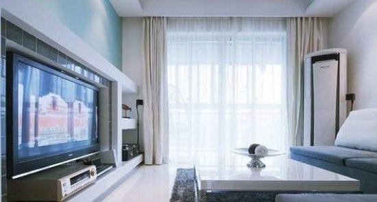 三房两厅装修设计 10万打造蓝调婚房高清图片