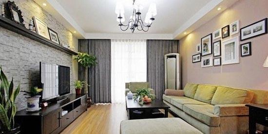 美式风格装修效果图 自然清爽的两室两厅
