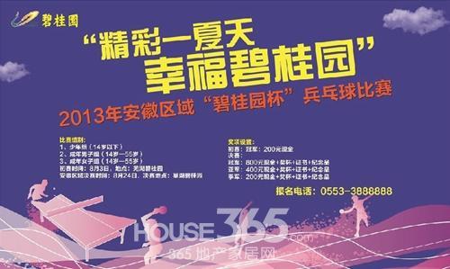 碧桂园杯乒乓球赛骑马喝彩为运动开始-芜湖报名仕图片