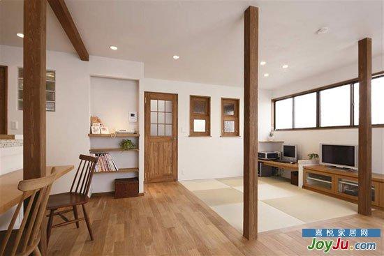 飘窗 日本人家的原木风两居 榻榻米缔造的消暑角落 | 装修案例2013-07