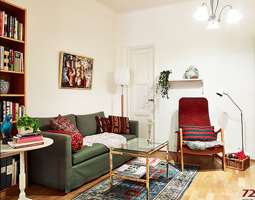 家居装修图片:70平米欧式复古公寓