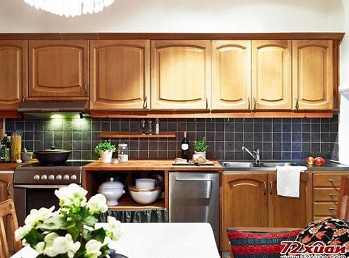 新闻 新闻详情  家居装修70平米欧式复古公寓:灶具橱柜齐全.