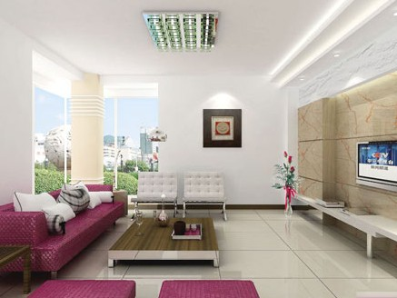 多图赏靓丽电视背景墙 简约家居客厅装修效果图