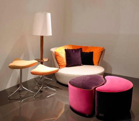 时尚沙发与单椅 意大利设计师的创意