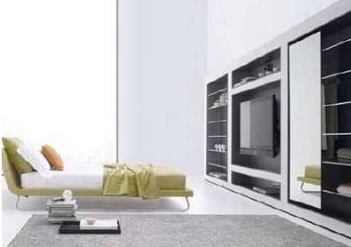 ·现代欧式风格电视背景墙很简约