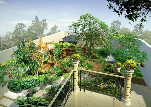 屋顶花园装修效果图 打造美丽的秘密基地