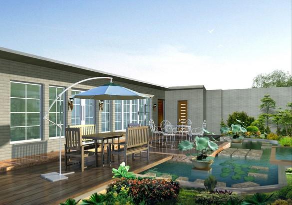 屋顶花园装修效果图:屋顶花园有中式