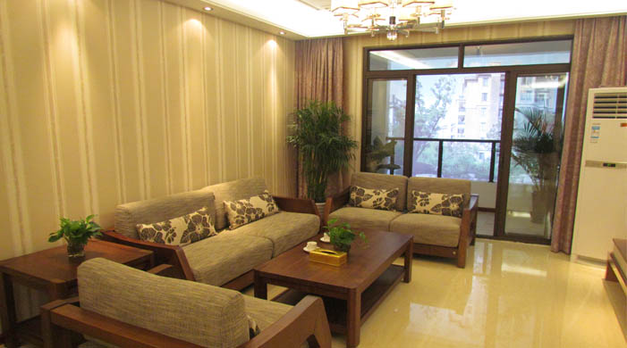 三室两厅两卫新中式家装 实木打造大户型精装修