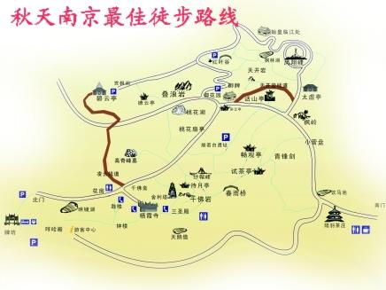 南京西霞山风景区地图