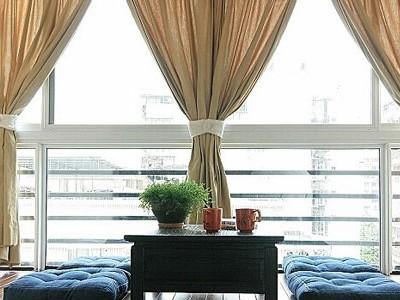 客厅阳台窗帘效果图