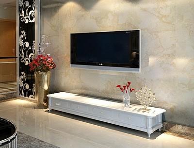 电视墙装修效果图欧式:这种大理石的匹配显得很大气.-电视墙装修
